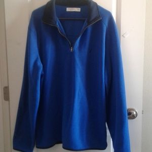 Nautica fleece pullover slim fit sz XL blue